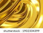 3d rendering of gold abstract... | Shutterstock . vector #1902334399