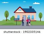 home for rent vector concept.... | Shutterstock .eps vector #1902335146
