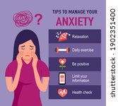 tips for anxiety management... | Shutterstock .eps vector #1902351400