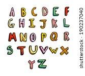 cartoon alphabet | Shutterstock .eps vector #190237040