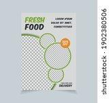 healthy restaurant flyer design ... | Shutterstock .eps vector #1902380506