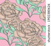 beautiful seamless floral... | Shutterstock . vector #1902380626