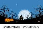 halloween night background ... | Shutterstock .eps vector #1902393079