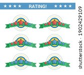 set of stars rating to rate how ...