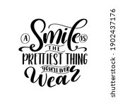 dental care hand drawn quote.... | Shutterstock .eps vector #1902437176