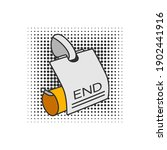 funny cartoon drawing of an... | Shutterstock .eps vector #1902441916