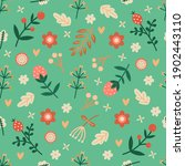 seamless spring floral pattern. ... | Shutterstock .eps vector #1902443110