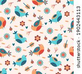 seamless spring floral pattern. ... | Shutterstock .eps vector #1902443113
