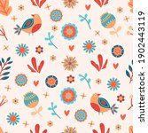seamless spring floral pattern. ... | Shutterstock .eps vector #1902443119