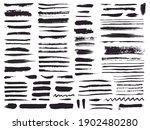 paint brush strokes and grunge... | Shutterstock .eps vector #1902480280