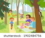 vector. family and children... | Shutterstock .eps vector #1902484756