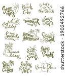 summer themed hand lettering...   Shutterstock .eps vector #1902492766