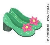 baby girls shoes. children's...   Shutterstock .eps vector #1902494653