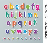 colorful paper small alphabet... | Shutterstock .eps vector #190249898