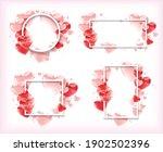 a set of four white frames of... | Shutterstock .eps vector #1902502396