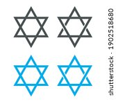 star of david. jewish star... | Shutterstock .eps vector #1902518680
