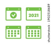 vector time and calendar icons... | Shutterstock .eps vector #1902518689