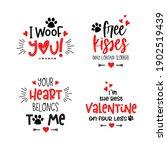 Dog Valentine's Day Lettering...