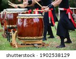 Group Of Taiko Drummers...