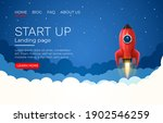 start up idea landing page... | Shutterstock .eps vector #1902546259