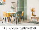 stylish interior of light... | Shutterstock . vector #1902560590