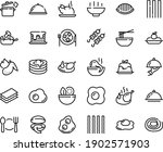 food line icon set   hot bowl ...   Shutterstock .eps vector #1902571903