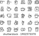 food line icon set   hot cup ... | Shutterstock .eps vector #1902573370