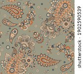 floral vintage background with... | Shutterstock .eps vector #1902590539
