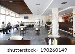 Stock photo beautiful brand new european restaurant in downtown 190260149
