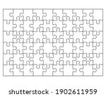 blank jigsaw puzzle 60 pieces.... | Shutterstock .eps vector #1902611959