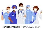 international medics team in... | Shutterstock .eps vector #1902620410