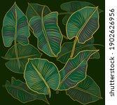 floral pattern  golden split...   Shutterstock .eps vector #1902626956