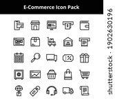 e commerce related icons... | Shutterstock .eps vector #1902630196