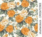 seamless flower pattern on crime | Shutterstock .eps vector #1902672583