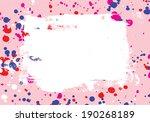 grunge background. color ink... | Shutterstock .eps vector #190268189