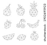 low poly fruit set isolated on...   Shutterstock .eps vector #1902695923