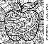 doodle apple colouring book... | Shutterstock .eps vector #1902701926