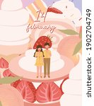 happy valentine's day card with ... | Shutterstock .eps vector #1902704749