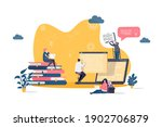 online studying concept in flat ...   Shutterstock .eps vector #1902706879