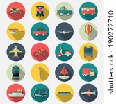 transportation icons with long... | Shutterstock .eps vector #190272710