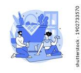 indoor picnic abstract concept...   Shutterstock .eps vector #1902733570