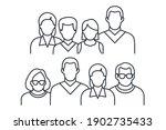 people avatar icon vector... | Shutterstock .eps vector #1902735433