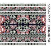 water colour traditional border ... | Shutterstock . vector #1902744070