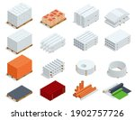 isometric building products... | Shutterstock .eps vector #1902757726