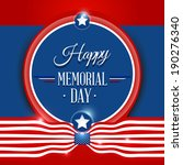 happy memorial day symbol with... | Shutterstock .eps vector #190276340