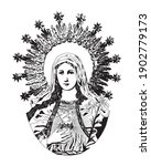 immaculate heart of mary... | Shutterstock .eps vector #1902779173