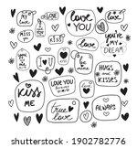 funny set of hand drawn icons... | Shutterstock .eps vector #1902782776