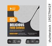 restaurant food social media... | Shutterstock .eps vector #1902794419