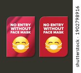 no entry without face mask icon ... | Shutterstock .eps vector #1902798916