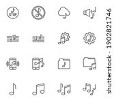 music sound line icons set ...   Shutterstock .eps vector #1902821746